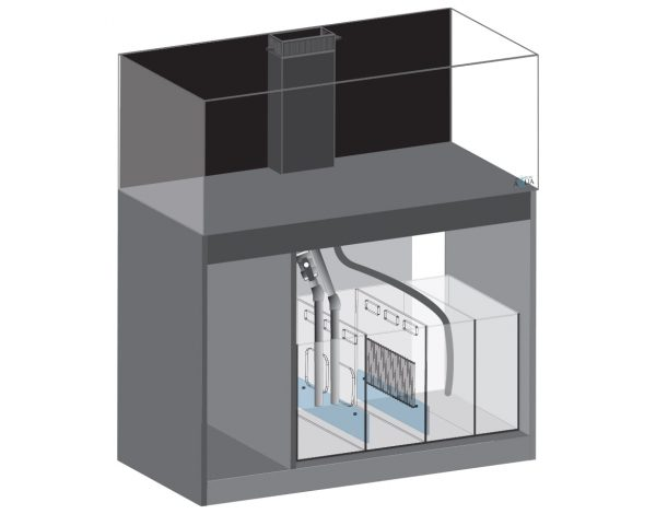 EA Reef Pro 1200 and Cabinet in Gloss White Living Reef Aquatics Reptiles